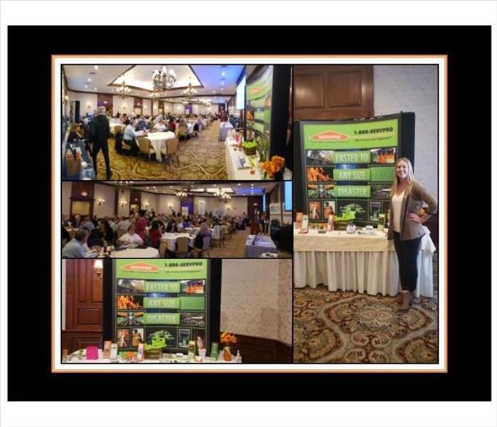 collage of pictures from a trade show SERVPRO participated in