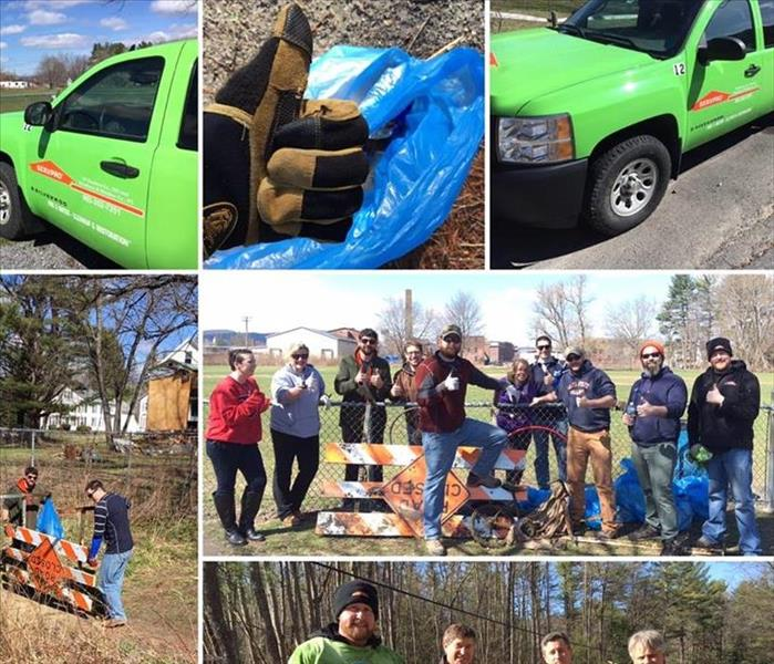 Members of Monadnock Board of Realtors and Wolfpack Rugby Club helping to