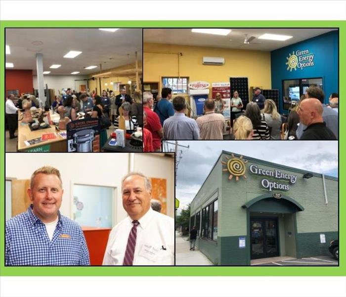 photo collage of photos from Chamber Event at Green Energy Options