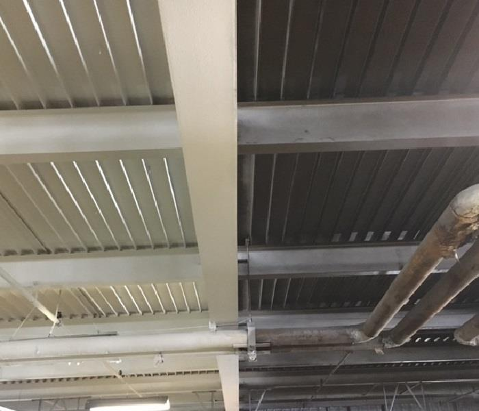 Ceiling Cleaning at a Local Trucking Company