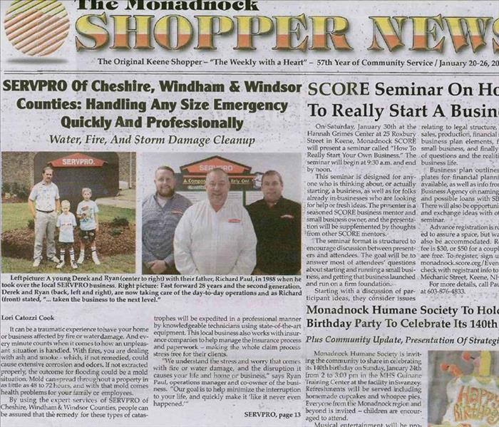 Community SERVPRO CWWC in the news!
