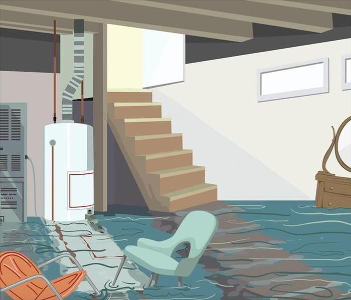 Water Removal From Basement After Heavy Rains In Dublin