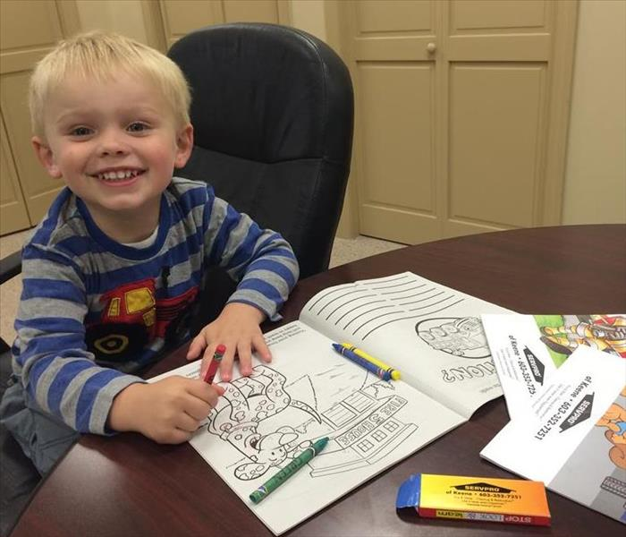 Community SERVPRO of Keene Distributes Fire Prevention Coloring Books to Local Schools